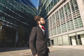 Stylish elegant dreadlocks businessman — Stock Photo