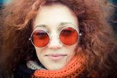 красные волосы женщина — Стоковое фото