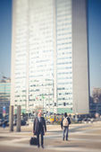 Cambio de inclinación ciudad borrosa — Foto de Stock