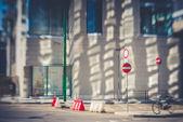 Blurred city tilt shift  — Stock Photo