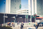 Blurred city tilt shift  — Stock Photo