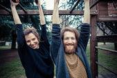 Young modern stylish couple — Foto Stock