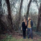 Young modern stylish couple — Stock Photo