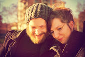 Young couple  lifestyle outdoor — Foto de Stock