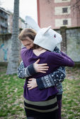 Young hipster cuople lovers — Foto de Stock