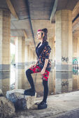 Punk dark girl — Foto de Stock