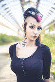 Punk dark girl — Stock Photo