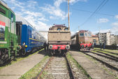 Old trains deposit — Foto Stock