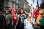 Celebration of liberation of  Italy — Stock Photo