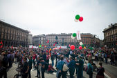 Celebration of liberation of  Italy — Stock Photo