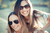 Two women having fun — Stock Photo