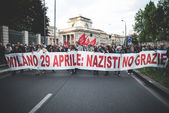 Manifestation against fascism — Stock Photo