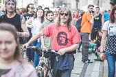 在米兰举行的五一国际劳动节 — 图库照片