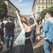 Labor day held in Milan — Stock Photo