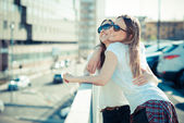 Two  young women — Stock Photo