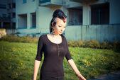 Beautiful punk girl — Stock Photo