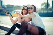 Women using smartphone — Stock Photo