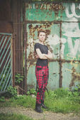 Young lesbian stylish hair style woman — Stock Photo