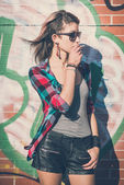 Unga vackra modell kvinna — Stockfoto