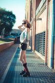 Jonge mooie model vrouw — Stockfoto