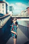 Young beautiful model woman — Foto Stock