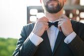 Handsome hipster modern elegant man — Foto de Stock
