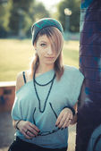 Modelo linda jovem mulher — Fotografia Stock