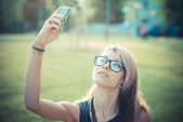 Beautiful woman selfie — Stock Photo