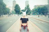 Rabbit mask woman  — Foto de Stock