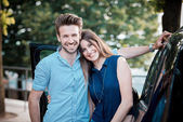 Young beautiful couple lovers — Stock Photo