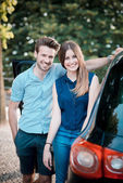 Young beautiful couple lovers — Stock fotografie