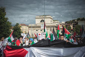 Manifestation pro palestine à milan 26 juillet 2014 — Photo