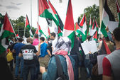 Pro palestine manifestation in milan on july, 26 2014 — Foto Stock
