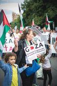 Pro Palestinu projev v Miláně v červenci, 26 2014 — Stock fotografie