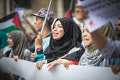 про палестина проявление в милане на 26 июля 2014 — Стоковое фото