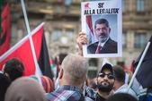 Pro palestine manifestation in milan on july, 26 2014 — Stock Photo