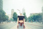 Rabbit mask woman  — Stock Photo