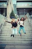 Stylish young women — Stock Photo