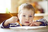 Boy draws. — Stock Photo