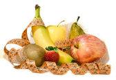Composition of fruit, concept of balanced diet — Stock Photo