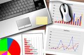 Business statistics — Stock Vector