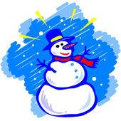 Bonhomme de neige — Vecteur