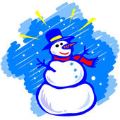 Muñeco de nieve — Vector de stock