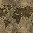 Parchment world map — Stock Photo