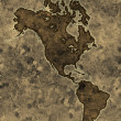 Parchment americas map — Stock Photo