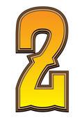 Západní abecedy číslo - 2 — Stock fotografie