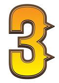 Westerse alfabet nummer - 3 — Stockfoto