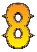 Número de alfabeto occidental - 8 — Foto de Stock