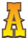 Western alphabet letter - A — Stockfoto