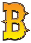 Western alphabet letter - B — Стоковое фото